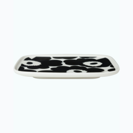 Marimekko Bordje Unikko Zwart Wit 15 x 12 centimeter