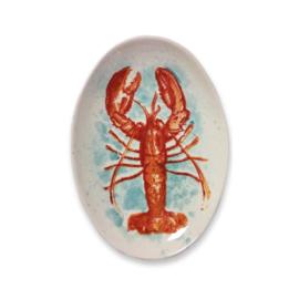 Frutos do Mar ovalen bord met kreeft 30 x 21 cm