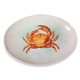 Frutos do Mar ovalen serveerbord met krab 39 x 28 cm