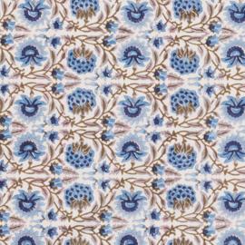 Bungalow katoenen servet 45 x 45 cm Deoli Topaz, set van 4 stuks