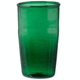 Bungalow Siesta belletjesglas groen 410 ml, set van 4 in een doosje