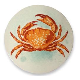 Frutos do Mar grote onderzetter met krab van aardewerk en kurk  24 cm