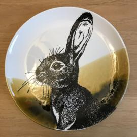 Hunting servies ontbijtbord 24 cm konijn