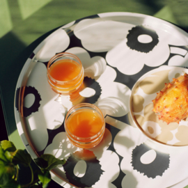 Marimekko ontbijtbord Oiva Unikko beige 20 cm