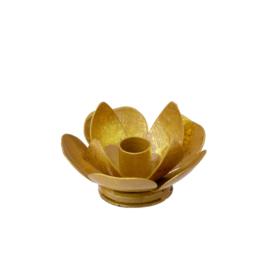 Bungalow KERST gouden kandelaartje Joytis voor 'kerstboomkaarsjes'