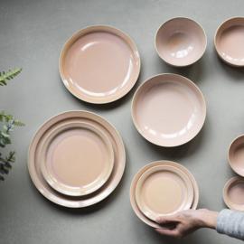 Er-go! roze hoog rijstschaaltje 11,5 cm