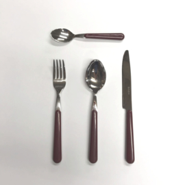 Brio cutlery set 24-pieces bordeaux (EME color code 10)