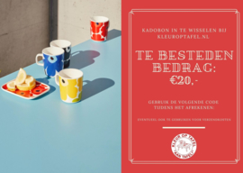 Kleuroptafel kadobon €20