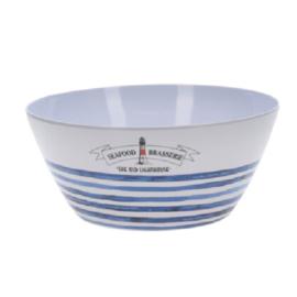 La Côte gestreepte melamine schaal 3,5 liter in rood of blauw, kies uit 4 varianten