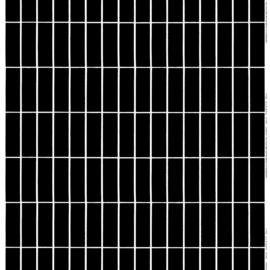 Marimekko Tilliskivi zwart wit afneembaar tafelkleed v/d rol, per  50 cm