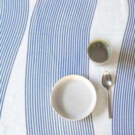 River blue tafelkleed met acrylcoating van de rol (per 50 cm)