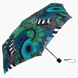 Marimekko opvouwbare paraplu in handtasformaat in zakje, Siirtolapuutarha (let op, handmatige bediening)