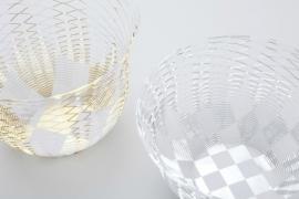Air vase zilver en goud, set van 2 stuks