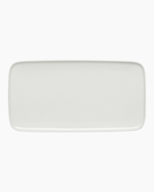 Oiva rectangular white serving dish 16 x 30 cm