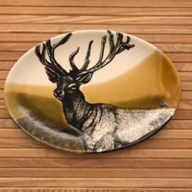Hunting servies ovalen schaal  30 x 21 cm hert