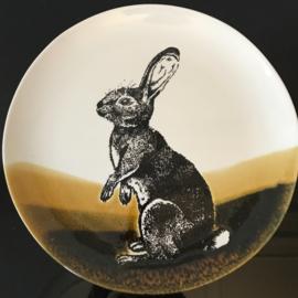 Hunting servies grote serveerschaal 38 cm konijn
