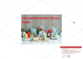 Kleuroptafel kadobon `customized`