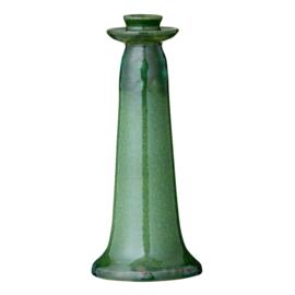 Bungalow kaarsenstandaard groen geglazuurd aardewerk Vital Grass M 25 cm