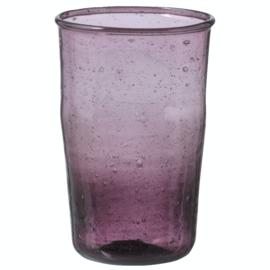 Bungalow Siesta belletjesglas aubergine 410 ml