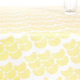 Obi geel tafelkleed met acrylcoating van de rol (per 50 cm)