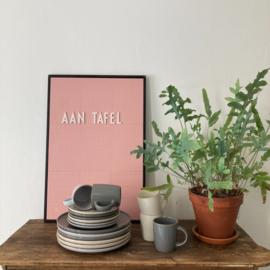 Siaki Simplicity set van 6 ontbijtborden 18,5 cm antraciet met gouden randje