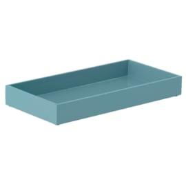 Bungalow gelakt rechthoekig dienblad met opstaande rand middenblauw 20 x 40 x 5 cm