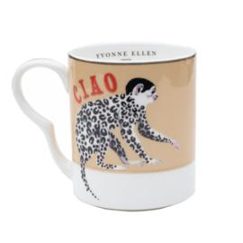 Yvonne Ellen set van twee mokjes Ooh la la Cheetah en Ciao aapje
