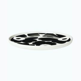 Marimekko Oiva Ontbijtbord Unikko Zwart Wit 20 cm
