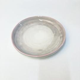 Only Rose servies gebaksbordje roze met grijs 19 cm