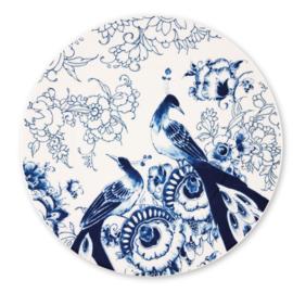 Royal Delft Peacock Symphony Onderbord of platte serveerschaal 30,5 cm