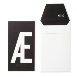 Design Letters postcard with envelope