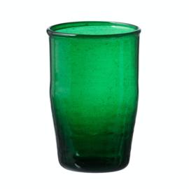 Bungalow belletjesglas groen 230 ml