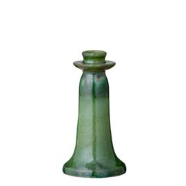 Bungalow kaarsenstandaard groen geglazuurd aardewerk Vital Grass S 18 cm