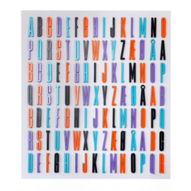 Design Letters LILA / PAARS houten letter 12 cm voor binnen