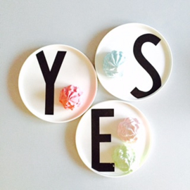 Design Letters bone china plate