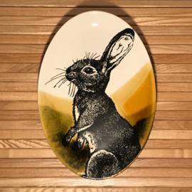 Hunting servies ovalen schaal  30 x 21 cm konijn