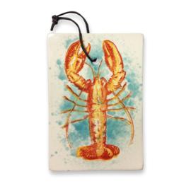 Frutos do Mar serveerplankje Kreeft aardewerk met ophangleertje 25 x 17,5 cm