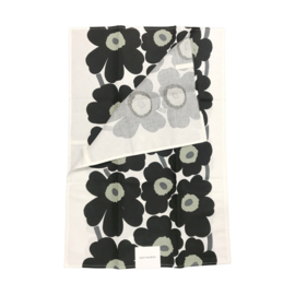 Set of 2 tea towels Unikko Black 47 x 70 cm