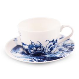 Cup and saucer Peacock Symphony