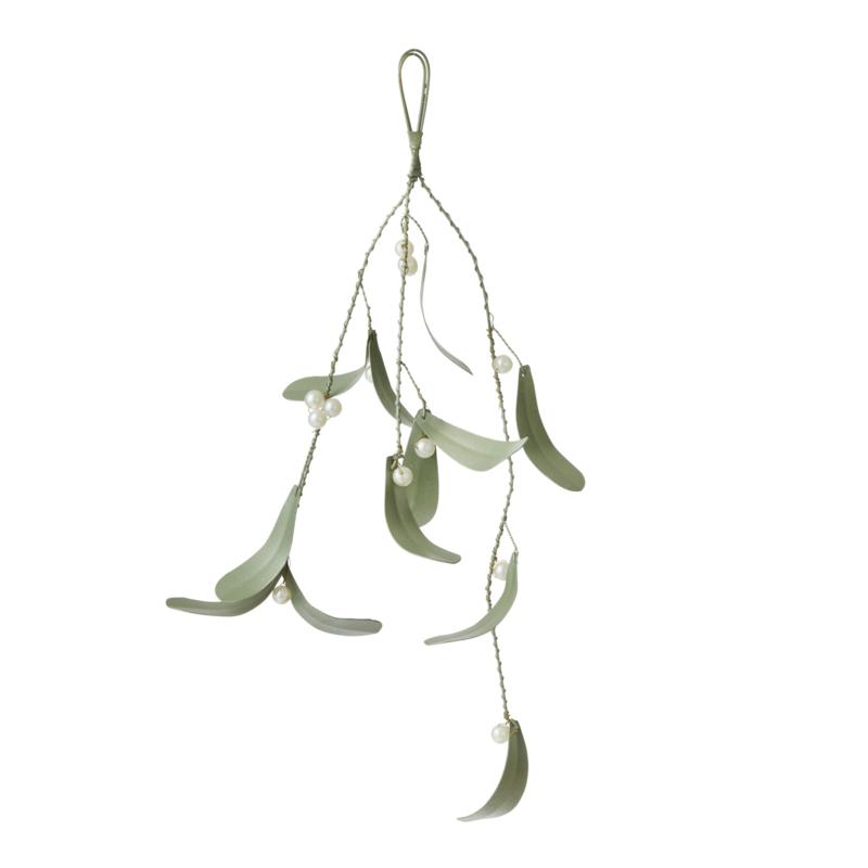 Bungalow KERST mintgroene mistletoe 30 cm