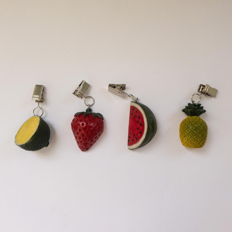 Tafelkleedgewichtjes: kies uit aardbei, limoen, watermeloen of ananas