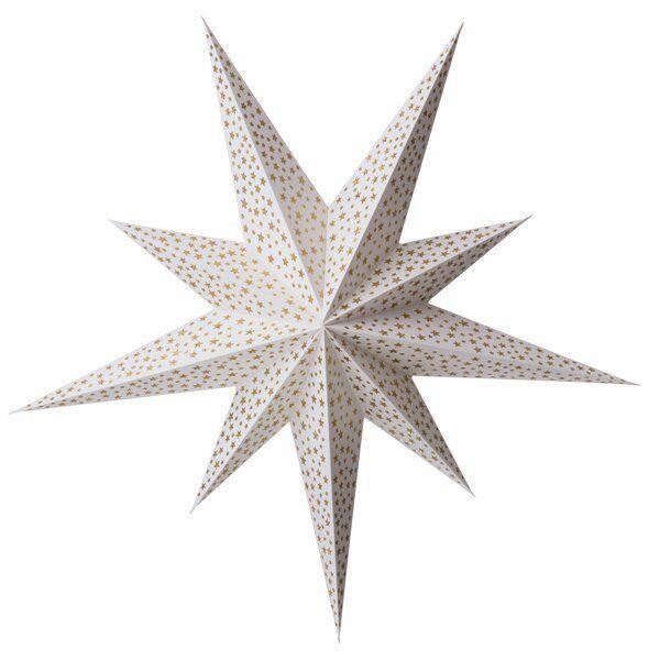 Bungalow KERST papieren ster Stardust Gold met kleine sterretjes - 100 cm doorsnede