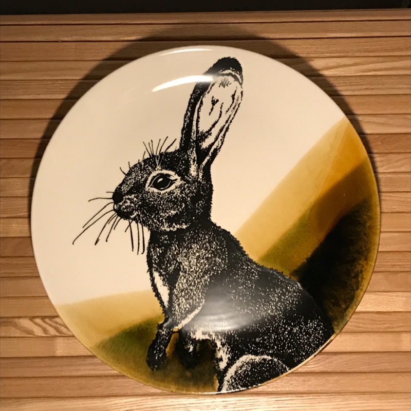 Hunting servies dinerbord 30 cm konijn