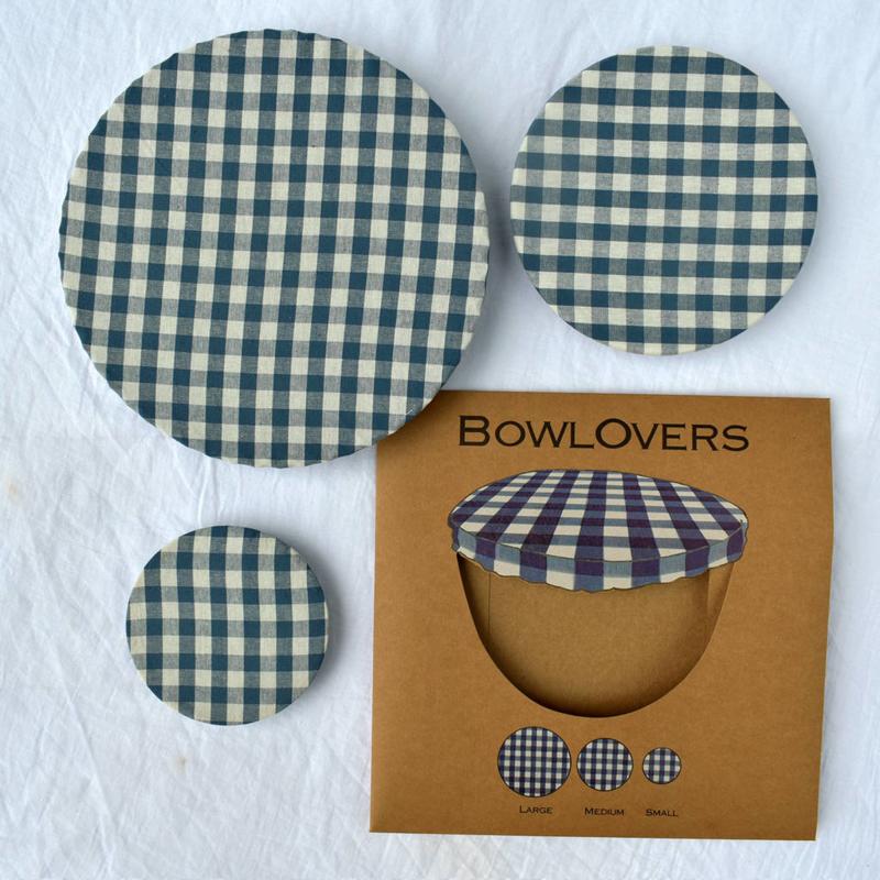 Bowlovers met blauw wit ruitje (3 stuks)