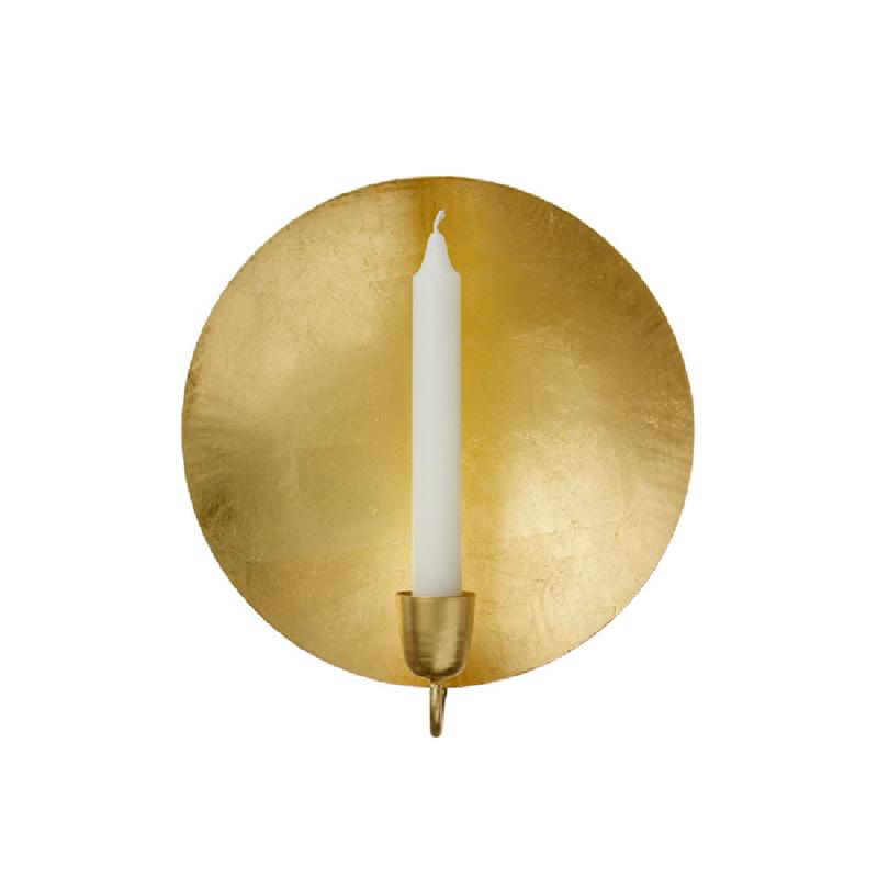 Bungalow gouden muurkandelaar rond ø 20 cm