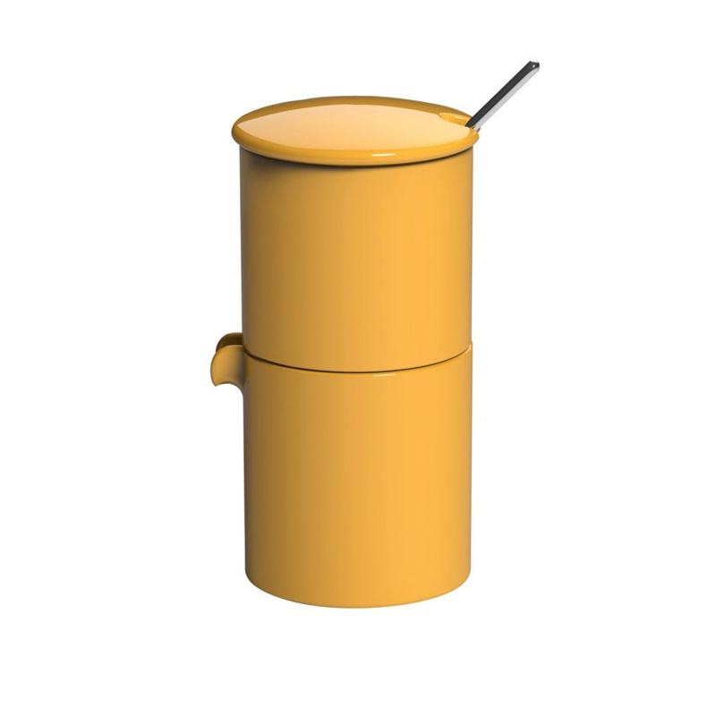 Loveramics Bond gele stapelbare melk en suiker set met lepeltje