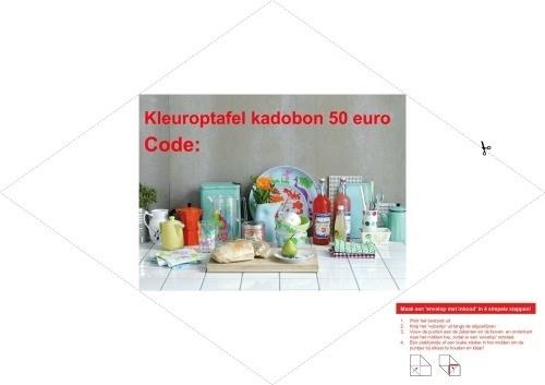 Kleuroptafel kadobon €50