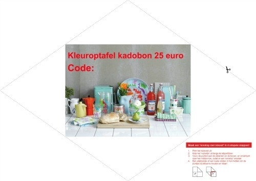 Kleuroptafel kadobon €25