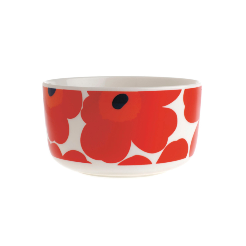 Bowl Unikko Red 0,5 liter