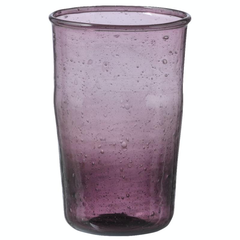 Bungalow Siesta belletjesglas aubergine 410 ml per stuk